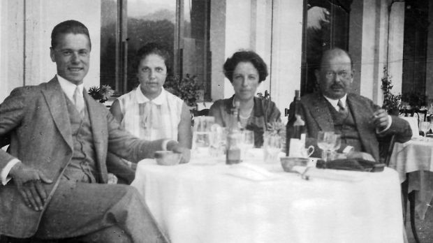 Ursula's father Werner, aunt Ilse, and grandparents Lotte and Hans in 1928