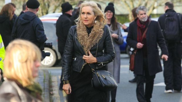 Miriam O'Callaghan during the funeral of Marian Finucane at St Brigid's Church in Kill, Co Kildare. Photograph: Gareth Chaney/Collins