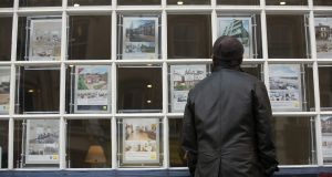 Property website Daft recorded Irish house prices falling last year for the first time since 2012. Photograph: Simon Dawson/Bloomberg