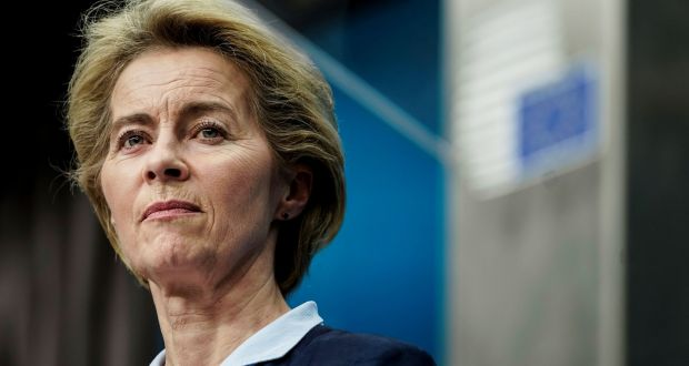 European Commission president Ursula von der Leyen is set to met UK prime minister Boris Johnson along with EU chief negotiator Michel Barnier in Downing Street on Wednesday. Photograph: Kenzo Tribouillard/AFP via Getty