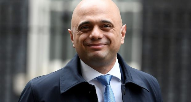 Britain's chancellor of the exchequer Sajid Javid  leaves after a cabinet meeting on Downing Street on Tuesday. Photograph: Toby Melville/Reuters