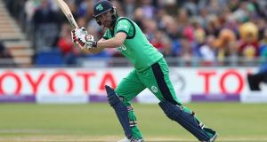 New Ireland captain Andrew Balbirnie hopes his team can improve quickly for their second ODI against West Indies. Photograph: Getty Images