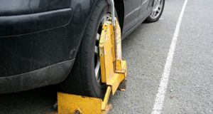 Clamped car.  Photograph: iStock