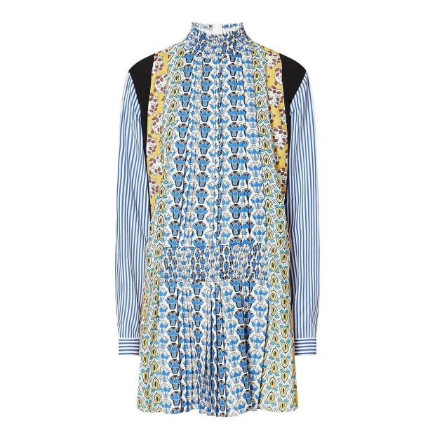 Mixed print dress, €1,890, Prada, Brown Thomas