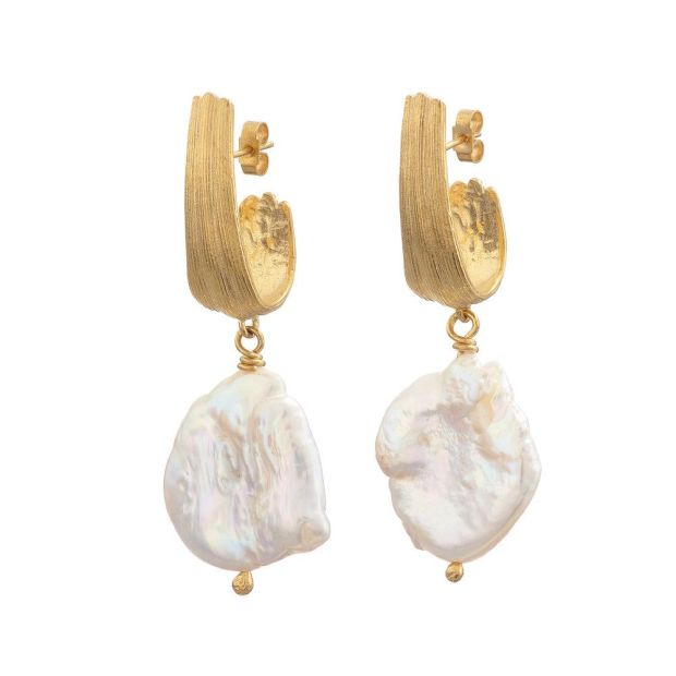 Pearl earrings, €130, Inner Island, Arnotts