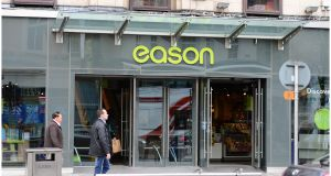 Eason on Patrick Street, Cork will remain open until 2021.  Photograph: Bryan O'Brien