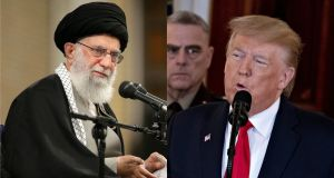 Iran's supreme leader Ayatollah Khamenei called the missile attack on an American military base in Iraq a  'slap in the face' for the US, while president Donald Trump tweeted 'All is well!' Photograph: AFP via Getty/Bloomberg