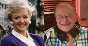 Well-known broadcasters Marian Finucane and Larry Gogan passed away within seven days of each other in early Janaury. Photographs: Matt Kavanagh/The Irish Times and RTÉ/PA Wire