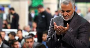 Qassem Suleimani: killed in US drone strike in Baghdad. Photograph: EPA