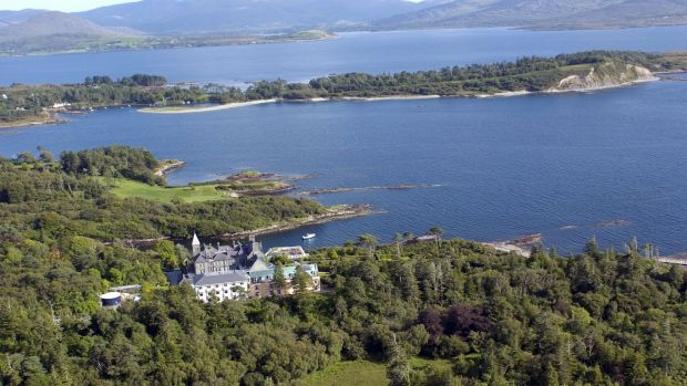 Rossdohan Island, with the Parknasilla ressort in the foreground. Photograph: Don MacMonagle