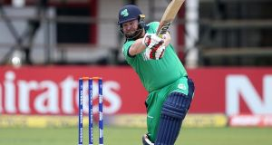 Ireland's in-form opener Paul Stirling top scored with 63 from 79 balls. Photograph: Getty Images