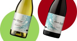 Carmen's Wave Series Left Wave Sauvignon Blanc and Right Wave Pinot Noir