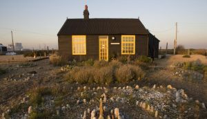 Prospect Cottage built in tarred timber and made famous by Derek Jarman