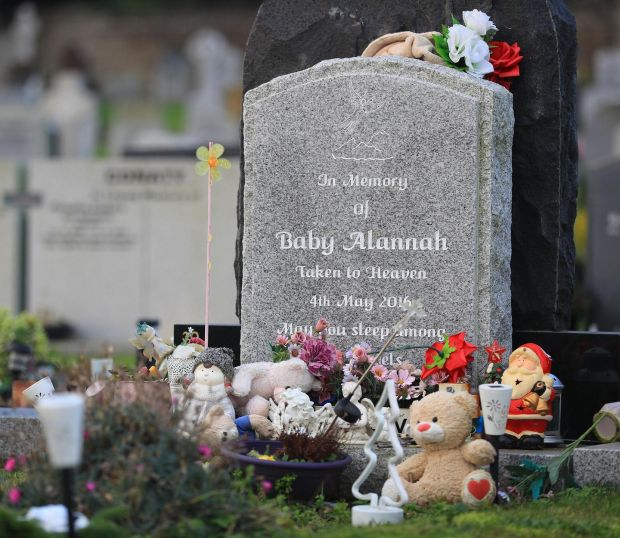 2016: Fasseroe, Co Wicklow: Baby Alannah's grave at Redford Cemetery in Greystones. Photograph: Nick Bradshaw
