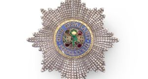 A jewelled breast star representing the Most Illustrious Order of St Patrick. Photograph: Sotheby's