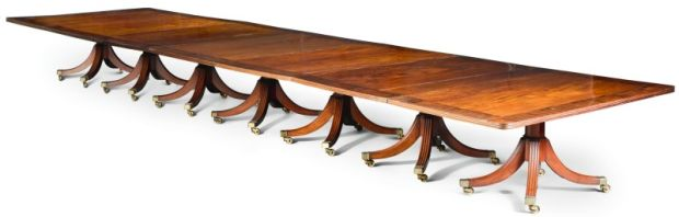 A regency rosewood-banded mahogany table is guided at £120,000. Photograph: Sotheby's