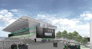 A CGI view of the redeveloped Sportsground provided by Connacht Rugby.