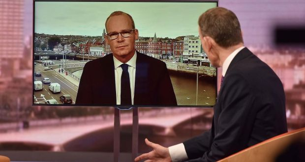 Tánaiste Simon Coveney on  the BBC's  Andrew Marr Show on Sunday.