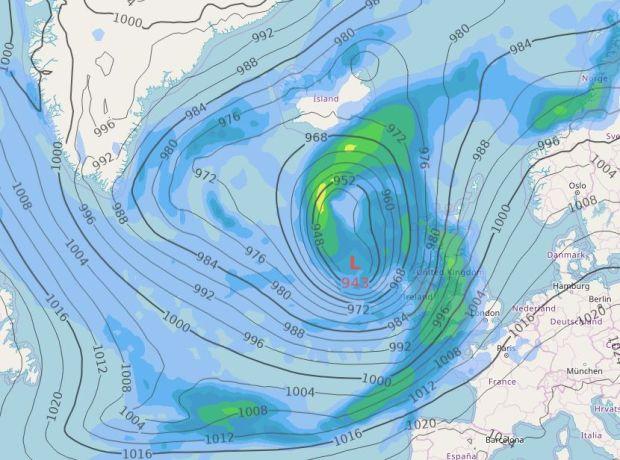 Pressure map, Monday 12.00pm