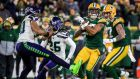 Green Bay Packers wide receiver Davante Adams during the NFC Divisional championship game against the Seattle Seahawks. Photograph: EPA