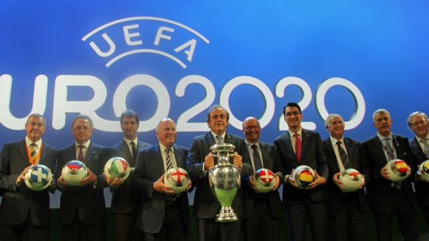 The concept of having Euro 2020 across Europe was the idea of former Uefa president Michel Platini. Photo: Fatih Erel/Anadolu Agency/Getty Images