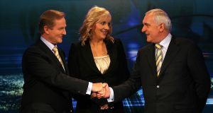 The last televised head-to-head debate between a taoiseach and the leader of the opposition was between Bertie Ahern and Enda Kenny in 2007, with RTÉ's Miriam O'Callaghan chairing. File photograph: Julien Behal/PA Wire