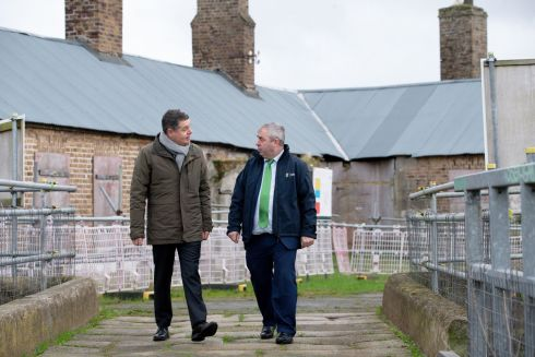 "STATE HERITAGE: Minister for Finance Paschal Donohoe and Minister of State for the OPW Kevin ""Boxer"" Moran visit the Magazine Fort at the Phoenix Park to review its condition amid plans for its restoration as a State attraction. Photograph: Tom Honan"