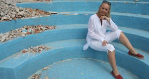 Eva Orsmond contemplates a future dip in the pool, Sunday night on RTÉ One