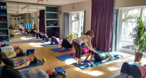 A pilates session at Live and Breathe Pilates in Dublin.