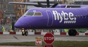 The emergency agreement seeks to prevent Flybe becoming the second UK carrier to fail in four months after Thomas Cook went bust in September. Photograph: Chris Ratcliffe/Bloomberg
