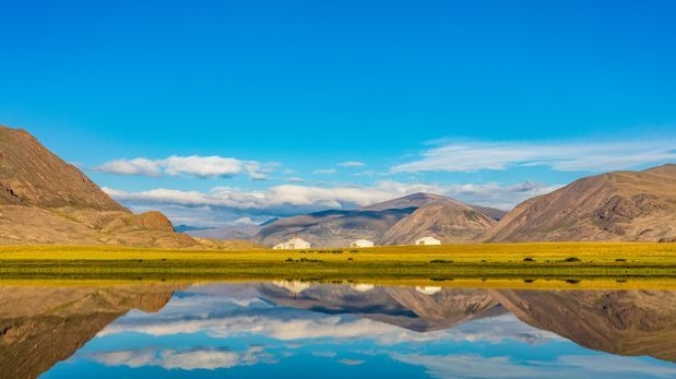 The mountainous Altai district in the western part of Mongolia. Photograph: Marcus Westberg via The New York Times