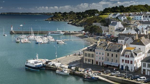 Boats docked in Le Palais, Belle-Île. Photograph: Christopher Miller/The New York Times
