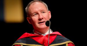 Jim Gavin after receiving an honorary doctorate from DCU in December. Photograph: Inpho