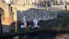 Homeless man in serious condition after tent lifted during canal 'tidy up'