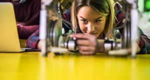 Girls at 16 choose physics to a much lesser extent than boys, which stops them following an engineering career. Photograph: iStock