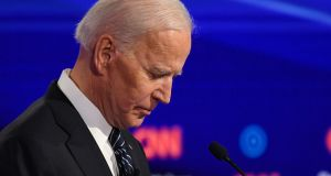 Joe Biden: Whatever the source of his resilience – in national if not state polls – allies of the US should hope it lasts.  Photograph:  Robyn Beck/AFP via Getty Images