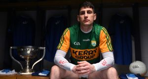 "Kerry's Paul Geaney:   ""Just get a mark now, and you have a shot at goal."" Photograph:  Brendan Moran/Sportsfile"