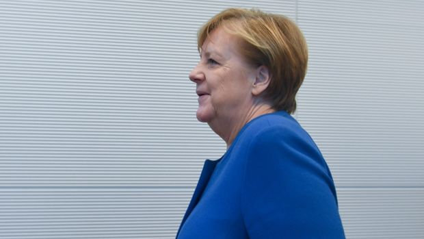 Angela Merkel says the EU should identify the technological capabilities it lacks and move fast to fill in the gaps. Photograph: EPA