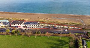 An aerial view of the Watson & Johnson Centre on Church Road, in Greystones, Co Wicklow.