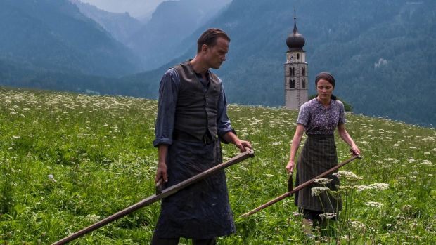 August Diehl and Valerie Pachner in A Hidden Life