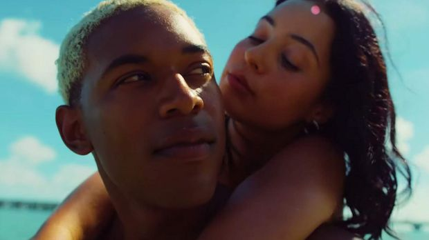 Kelvin Harrison Jr and Alexa Demie in Waves