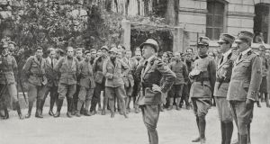 Gabriele D'Annunzio giving a speech in front of  legionnaires on March 18th,  1920, in Rijeka, Croatia. Rijeka is, along with Galway, European Capital of Culture 2020. Photograph: De Agostini via Getty Images