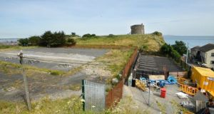 Site at Howth where planning permisison for a proposed housing development has been overturned on consent in the High Court but a fresh planning application has been made. File photograph: Dara Mac Dónaill