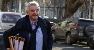 Ryanair's Michael O Leary said the UK government's rescue of Flybe was a badly thought out bailout. Photograph: Collins