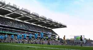 The historic Dublin five-in-a-row final against Kerry and the  replay proved  the most-watched sports events of the year in 2019. Photograph: Billy Stickland/Inpho