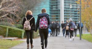 University College Dublin, Belfield: Choosing the wrong course has real consequences. Thousands drop out of college in their first year. Photograph: Alan Betson