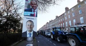 Fianna Fáil and Fine Gael TDs said early indications are voters see election as a choice between Leo Varadkar and Micheál Martin. Photograph: Brian Lawless/PA Wire