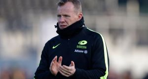 Saracens director of rugby Mark McCall is identifying players to be trimmed from the squad. Photograph: Henry Browne/Getty