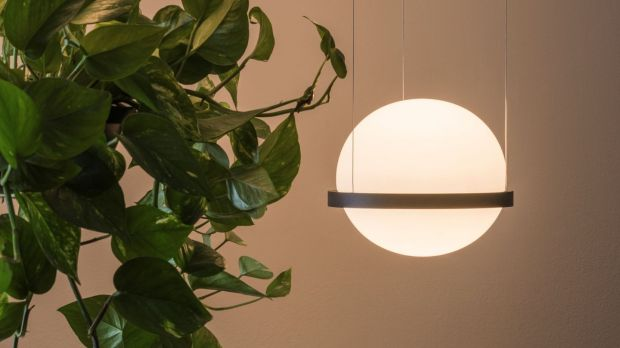 Light incorporating hanging basket by Palma by Antoni Arola for Vibia from Curated, Dublin