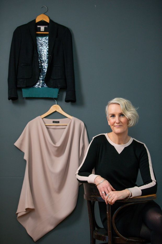 Catherine Cleary: slow, swapped, sustainable fashion is my new black. Photograph: Tom Honan